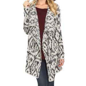 Lucky Brand Metallic Boucle Sweater Cardigan